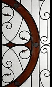 Castlewood Stained Glass Door Insert