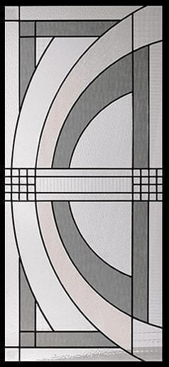 Imperial Stained Glass Door Insert