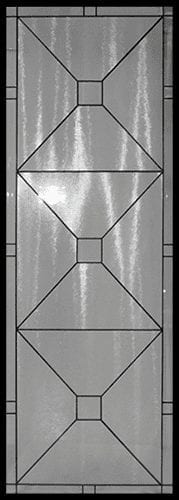 Lakefront Stained Glass Door Insert