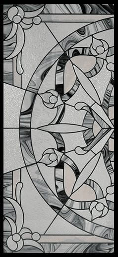Madelyn Stained Glass Door Insert