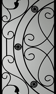 Whitfield Wrought Iron Door Insert
