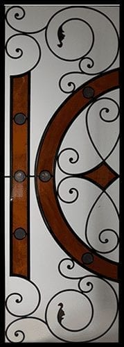 Madison Stained Glass Door Insert
