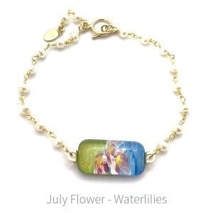 waterlily hand-painted bracelet