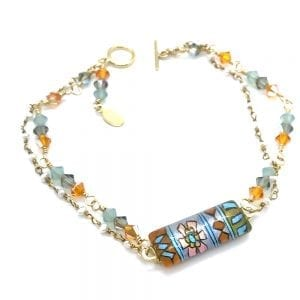 Persian Rug Inspired Bracelet by Sarita Kamat