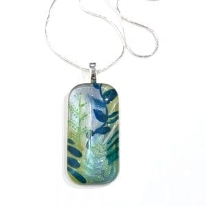Abstract Leaves Necklace by Sarita Kamat